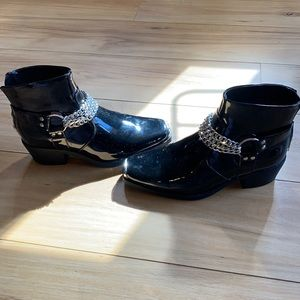 ASOS Cuban Chelsea boots with chains